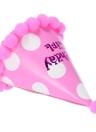 Célébration de la fête de Anself nopes bonnet chapeau d'anniversaire décorations festives pour enfants rose