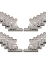 20Pcs LOVE English Letters Place Card Alloy Holders Table Mark Cards for Wedding Banquet Decoration