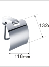 Homgeek Wall Mounted Chromed Stainless Steel Toilet Paper Tissue Rack Holder Hanger for Bathroom Storage Kitchen Home Hotel