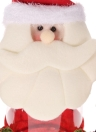 Festnight Lovely Santa Claus Plastic Candy Cookie Jar Gift Box with Lid Christmas Ornament Desktop Decor