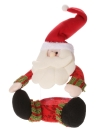 Festnight bella Babbo Natale di plastica di caramella Cookie Jar Gift Box con coperchio Natale Desktop Decor