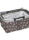 Large capacité Folding Paire de pique-nique pliable Isolé Cooler Sac Sac fourre-tout Durable Nourriture Vin Bière Sac de stockage avec poignée pour le déjeuner Vacances à la mer Camping Famille