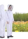 Equipamentos de proteção para apicultura Terno de apicultura branco com vista removível redonda removível Véu de esgrima Beekeeping Chapéu de corpo inteiro Hat Smock XX-Large