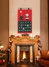 Natale Santa Advent Calendario X'mas Tessuto non tessuto Calendario appendice appendiabiti Calendario Decorazioni natalizie Ornamenti