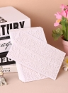 20pcs/set White Wedding Invitation Cards Kit Pearl Paper Laser Cut Hollow Invitation Cards for Wedding Anniversary Birthday Party