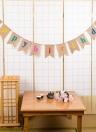Esonmus Colorful Burlap Happy Birthday Flags Banner Decorazioni per feste di compleanno forniture