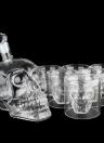 Squelette en forme de coupe en verre à boire verres à boire Whisky et Liquor Decanter Gift Set 6 verres à double paroi résistant à la chaleur pour le vin de bière