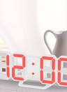 8-Shape Large Digital LED Alarm Clock USB Operated Blue/White/Red Light 12H/24H Display Adjustable LED Luminance Snooze Function Wall Clock Desk Alarm