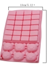 Silicone Sugar Cake Chocolate Bear Mold 30 Holes Cake Bakeware Pastry Mould Rilakkuma Bear Square Pudding Mould