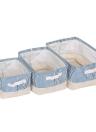 3pcs / set Boîte de rangement pliable Sac de stockage Boîte de rangement multifonction Boîtes de rangement Ensemble de panier de stockage pliable léger pour salon de nuit Organisateur de placard de voyage