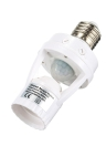 360 Degree Detection PIR Infrared Motion Sensor E27 LED Light Lamp Base Holder Bulb Socket Day & Night 2 Modes