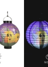 5pcs/set Foldable Halloween Paper Lantern with LED Lights Hanging Pumpkin Lanterns Lamp Decorations--Random Pattern