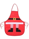 Christmas Santa Claus Style Red Apron Polyester Cotton Apron Christmas Accessory Ornaments for Women Men