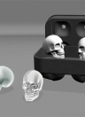 Home Ice Cube Three-dimensional 4 Square Skull Silicone Cake Chocolate Mold Ice cube Tray Mold Party Kitchen Baking Tool