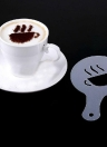 16pcs of Coffee Printing Stencil in Cooking Milk Foam Garland Template All Kinds of Modellings Spray Molds in Daily Life