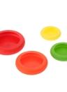 4pcs Cozinha Home flexível de silicone frutas vegetais Savers armazenamento cobrir contêineres definir cor aleatória