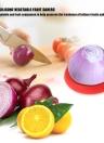 4Pcs Kitchen Home Flexible Silicone Vegetable Fruit Savers Storage Cover Containers Set Random Color