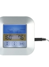 Digital Touchscreen BBQ Thermometer with Probe Color LCD Display Meat Cooking Timer Meat Type Taste Selection