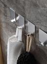 4pcs/set Multifunctional Space-saving Self Adhesive Hook High Quality Stainless Steel Wall-mounted Hooks Sticky Hook Single Hook Set