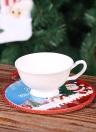 Natale a doppio tappo in ceramica sughero rotondo resistente al calore acqua absorbente tazza di tazza pan con corda appesa ornamenti di Natale modello casuale