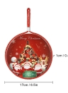 Christmas Double-Faced Ceramic Cork Round Coaster Heat Resistant Water Absorbent Pan Cup Mat with Hanging Rope Christmas Ornaments Random Pattern