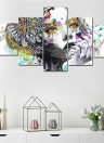 HD Printed 5-Panel Frameless Flower Girl Pattern Canvas Painting Wall Art Pictures Decor for Home Living Room Bedroom