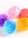 10pcs muffa della torta del silicone muffa della muffa del cioccolato a forma di rosa strumento di cottura della gelatina e della muffa del vassoio della caramella che fa muffa per Sugarcraft