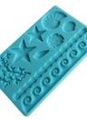 DIY Silicone Fondant Mold Cake Decoration Tools Sugar Baking Icing Molds Cakes Border Decor