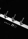 Stainless Steel Hook Rail Coat Rack with 5 Hooks Multifunctional Hanging Hook Wall Mounted Space-saving Hook Rack