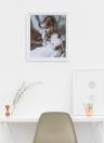 Sin marco de bricolaje pintura al óleo digital 16 * 20 '' niña pintada a mano pintura de lona de algodón por número de kit de oficina en casa arte de la pared pinturas decoración