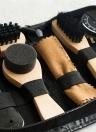 8 PCS Portable Shoe Shine Care Kit Noir et Transparent Polonais Brush Set pour Bottes Chaussures Soins Kit de Nettoyage Complet