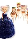 Lovely Food Grade Plastic Doll Model Mould Cake Mold for DIY Doll Dress Sugarcraft Fondant Cake Decorating Tools