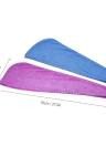 Htovila 2 pcs Doux Microfibre Séchage Rapide Cheveux Serviettes Sèche-Absorbant Cheveux Sec Cap Bath Douche Wrap Turban Serviette avec bouton pour tous les types de cheveux et longueurs
