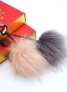 Soft Faux Fur Ball Key Chain Pompom Key Ring Handbag Purse Car Pendant Ornament Decor
