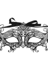 Festnight Romantic Black Laser Cut Metal Half Mask with Rhinestones Masquerade Ball Halloween Mask Fancy Gift