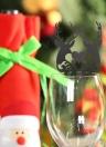 50pcs Delicate intagliato Natale cervi vino carta vetro Carte Tabella per la festa il giorno di Natale Wedding Banquet Decoration