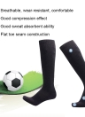 2 Pairs Men's Breathable Wicking Knee High Soccer Socks Sport Football Athletic Compression Socks for US 7.5-10.5 / UK 6.5-9.5 / EU 40-46 Black