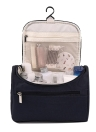Women Travel Makeup Bag Multifunction Cosmetic Bags Polyester Fashion Waterproof Storage Toiletry Bag Organizer Men (navy blue)