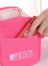 Sacola de maquiagem de viagens femininas Sacos de cosméticos multifunções Malha de poliéster Armazenamento impermeável Armazenador de saco de higiene pessoal (azul marinho)