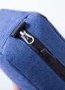 Portable Étanche Trousse De Toilette Polyester Pli Voyage Cosmétique Maquillage Organisateur Lavage Rasage Zipper Suspension Sac accessoires Fournitures Organisateur (Noir)