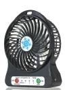 Портативный перезаряжаемый светодиодный вентилятор Mini Desk USB Зарядный воздушный охладитель 3 Режим регулирования скорости Светодиодное освещение Функция охлаждения (черный)