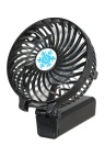 Portable USB 18650 Battery Rechargeable Fan Ventilation Foldable Air Conditioning Fans Foldable Cooler Mini Operated Hand Held Cooling Fan for Outdoor Home (Black)