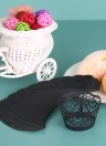 50pcs/set Paper Cupcake Wrappers Laser Cut Lace Cake Cup Liners Trays Baking Decorations Supplies--Black