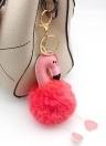 Morbido anello di pelliccia palla portachiavi Pompon portachiavi borsa borsa auto pendente Ornament Decor