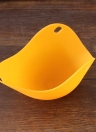 Silicone Egg Poachers Cups Eggs Boiler Poaching Poach Cup Pods Mould Cookware  Kitchen Tool Pancake Baking Cups (Orange)