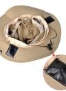 New Fashion Unisex Checkered Bluetooth Sun Hats Large Brimmed Hat Summer Bluetooth Music Hat Wireless Hands-Free Smart Cap Headphone Headset Speaker Mic