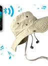 New Fashion Bluetooth Music Hat Wireless Hands-Free Smart Cap Headphone Headset Speaker Mic CVC Washed Bluetooth Summer Sun Hats for Man