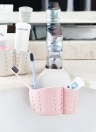 Kitchen Sink Faucet Hanging Bag Wheat Fiber Double-deck Drain Basket Storage Rack Supplies Tools of Kitchen