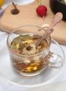 Mango largo Cucharas de café de té de acero inoxidable Manijas de esqueleto Crema cucharadita Cubiertos Tazas colgantes Herramientas de beber Cocina Gadget Negro
