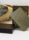 55pcs / deck impermeabile lusso nero oro lamina placcato poker Premium Matte giochi da tavolo in plastica PVC Bronzing carte da gioco Set Casino (oro)